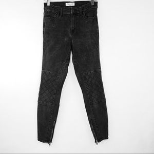 MADEWELL High Riser Skinny Black Jeans